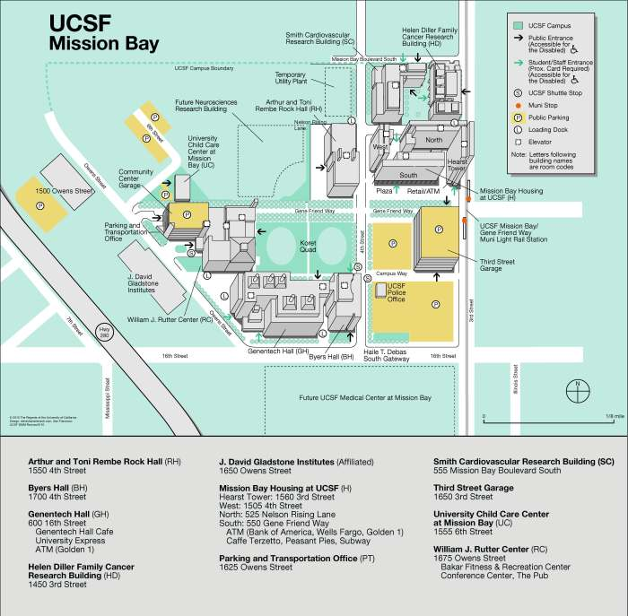 Mission Bay Campus Map.Maps Ucsf Care Of The Hospitalized Child